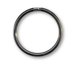 """ZT34 1.5"""" Silver Key Ring - 25 Pack"""